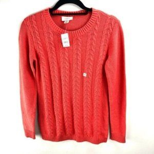 LOFT Coral Cable Knit Sweater Size XS